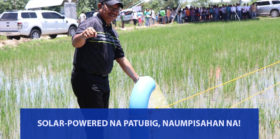SOLAR POWERED NA PATUBIG