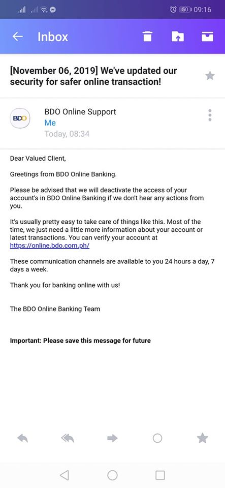 screenshot scammer email